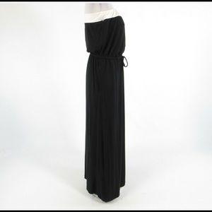 Black white J. CREW stretch maxi dress S